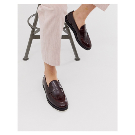 House of Hounds bowie loafers in burgundy hi shine leather