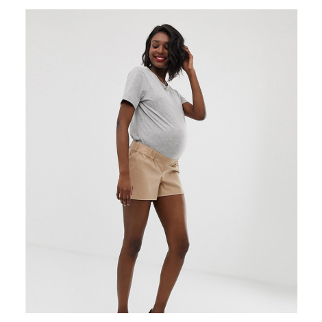 ASOS DESIGN Maternity chino short with under the bump waistband