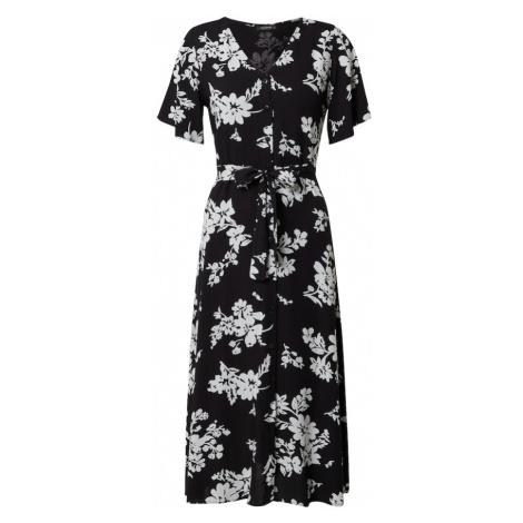 Trendyol Sukienka koszulowa czarny / biały
