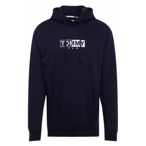 Tommy Jeans Bluzka sportowa 'TJM FLEECE EMBROIDERED HOODIE' ciemny niebieski / biały Tommy Hilfiger