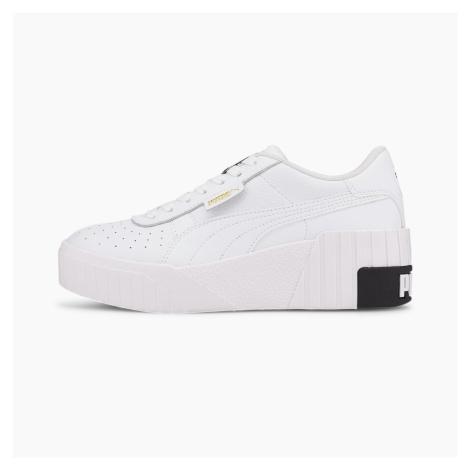 PUMA Damskie Buty Sportowe Cali Wedge, Biały Czarny
