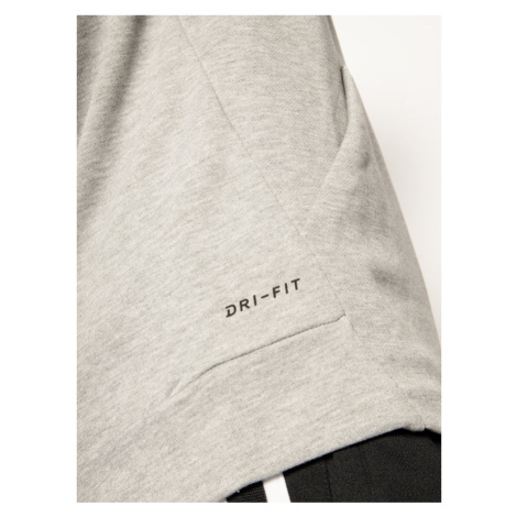 NIKE Bluza Dry Hoodie 885818 Szary Standard Fit