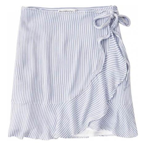 Abercrombie & Fitch Spódnica 'Fall Tiered' biały / niebieski
