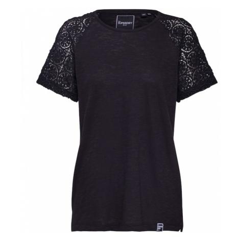 Superdry Koszulka 'Elisa' czarny
