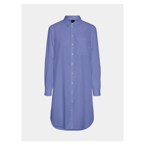Niebieska długa koszula VERO MODA Hella