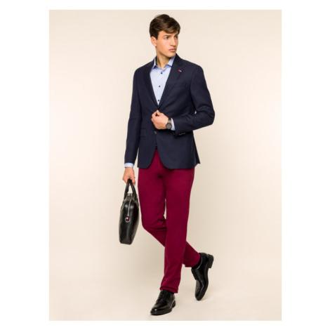 Tommy Hilfiger Tailored Spodnie materiałowe Flex TT0TT05837 Bordowy Slim Fit