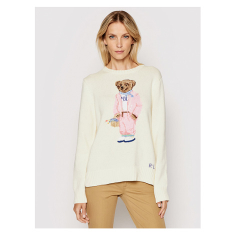 Polo Ralph Lauren Sweter Lsl 211838006001 Beżowy Regular Fit