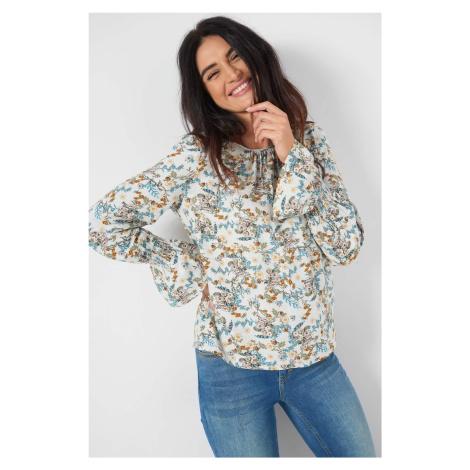 Wiskozowa bluzka w kwiaty Orsay