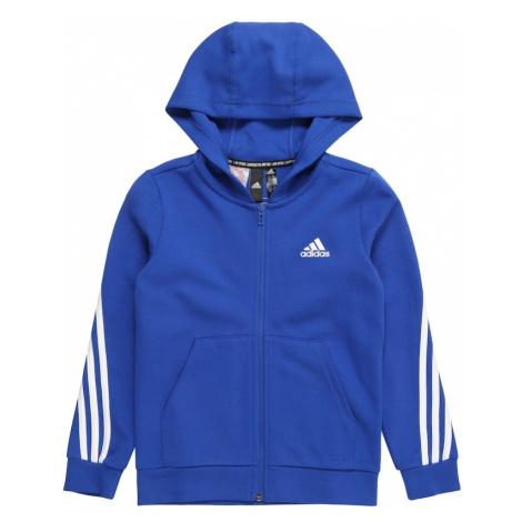 ADIDAS PERFORMANCE Sportowa bluza rozpinana biały / niebieski