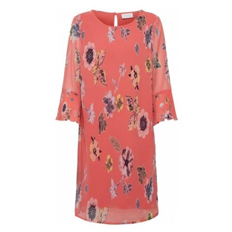 VILA Letnia sukienka 'VINIKO' koralowy