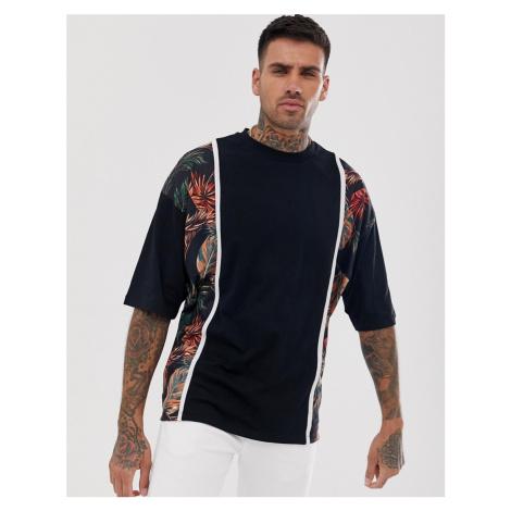 ASOS DESIGN oversized t-shirt with colour block print panels