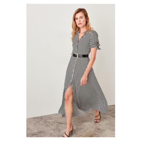 Trendyol White Striped Dress