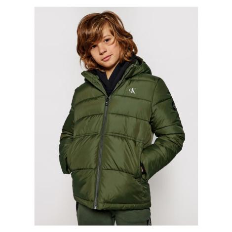 Calvin Klein Jeans Kurtka puchowa Essential Puffer IB0IB00557 Zielony Regular Fit
