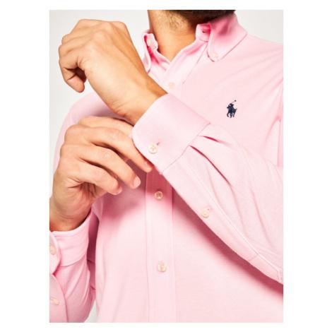 Polo Ralph Lauren Koszula Pique 710654408 Różowy Regular Fit