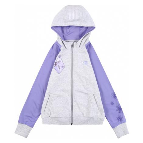 ADIDAS PERFORMANCE Bluza rozpinana sportowa 'Frozen' fioletowy / nakrapiany szary