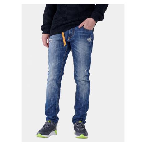 Niebieskie męskie jeansy slim fit Alcott