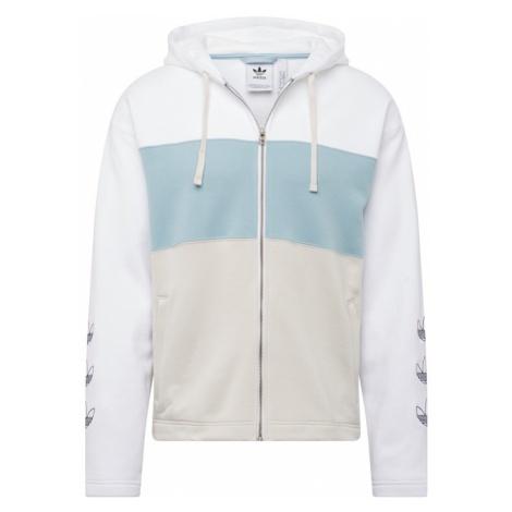 ADIDAS ORIGINALS Bluza rozpinana 'FULL ZIP HOODY' jasnoniebieski / biały