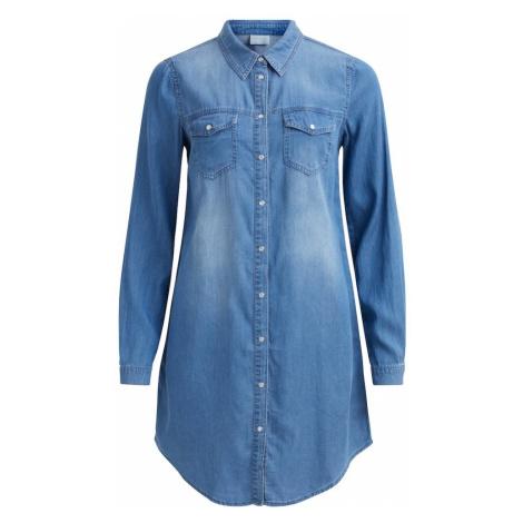 VILA Sukienka koszulowa niebieski denim