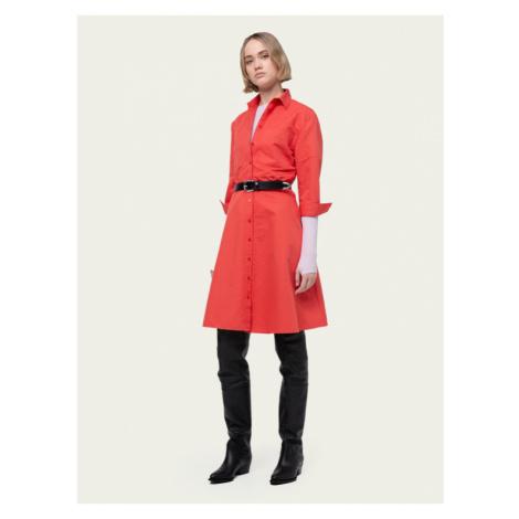 Hugo Sukienka koszulowa Ellona 50432217 Czerwony Regular Fit Hugo Boss