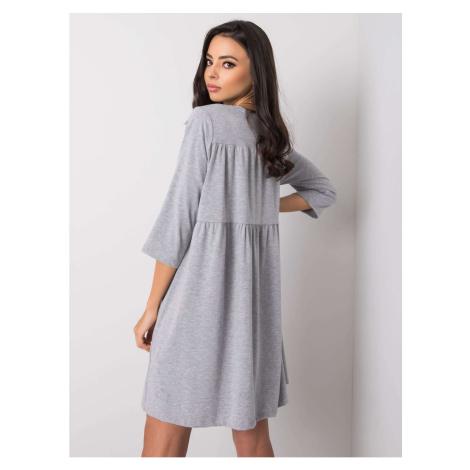 Szara luźna sukienka