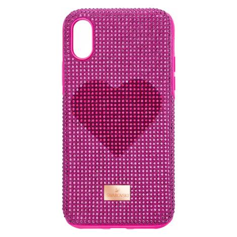 Etui na smartfona Crystalgram Heart z ramką chroniącą przed uderzeniem, iPhone® XS Max, różowe Swarovski
