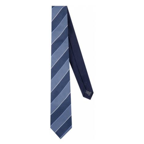 Tommy Hilfiger Tailored Krawat Silk Stripe TT0TT06494 Granatowy