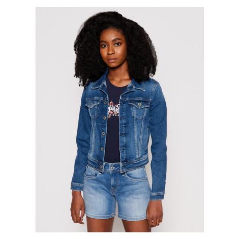 Pepe Jeans Kurtka jeansowa Core PL400654EC7 Granatowy Regular Fit
