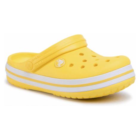 Klapki CROCS - Crocband Clog K 204537 Lemon