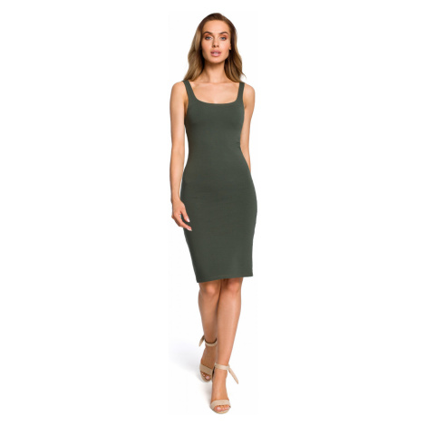 Made Of Emotion Woman's Dress M414 Military