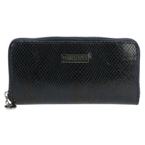 portmonetka Toscanio T01-001 - Dark Blue/Silver Zip