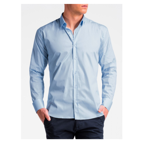 Ombre Clothing Men's regular shirt with long sleeves K505