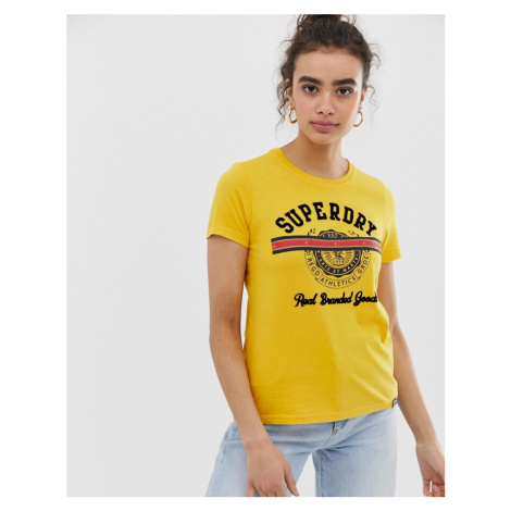 Superdry yellow t-shirt with logo