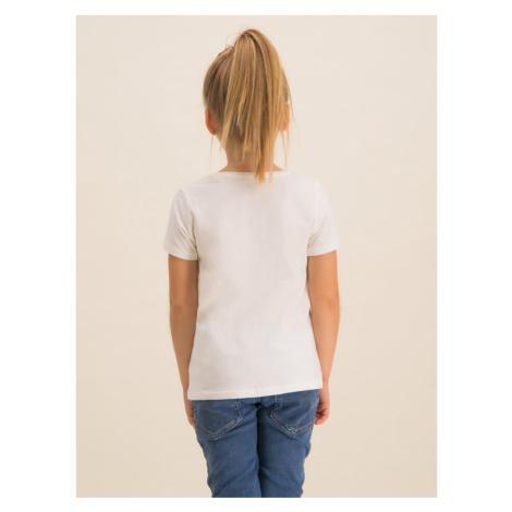 Guess T-Shirt K01I00 K82K0 Beżowy Regular Fit
