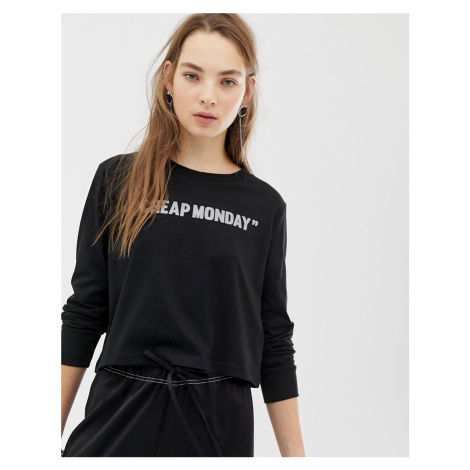 Cheap Monday long sleeve top with reflective logo