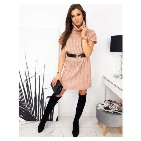 Sukienka / sweter DUO różowy EY1393 DStreet