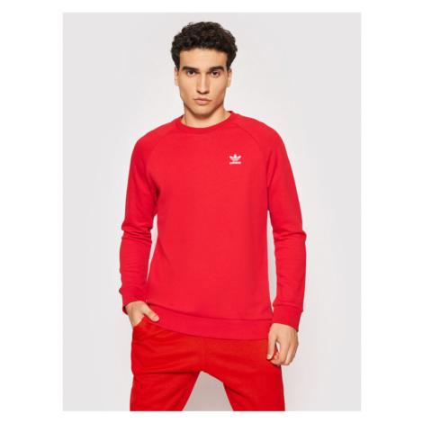 Adidas Bluza Essentials Trefoil GN3412 Czerwony Regular Fit