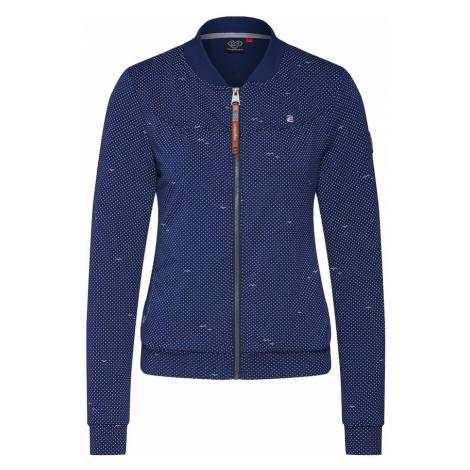 Ragwear Bluza rozpinana 'KENIA DOTS' biały / indygo