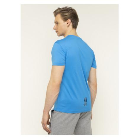 EA7 Emporio Armani T-Shirt 8NPT51 PJM9Z 1510 Niebieski Regular Fit