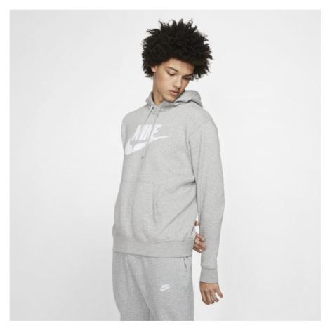 Męska bluza z kapturem i grafiką Nike Sportswear Club Fleece - Szary