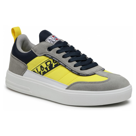 Sneakersy NAPAPIJRI - Bark NP0A4FKFY Grey/Yel/Navy 1A1