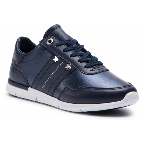 Sneakersy TOMMY HILFIGER - Tommy Essential Leather Sneaker FW0FW03688 Tommy Navy 406
