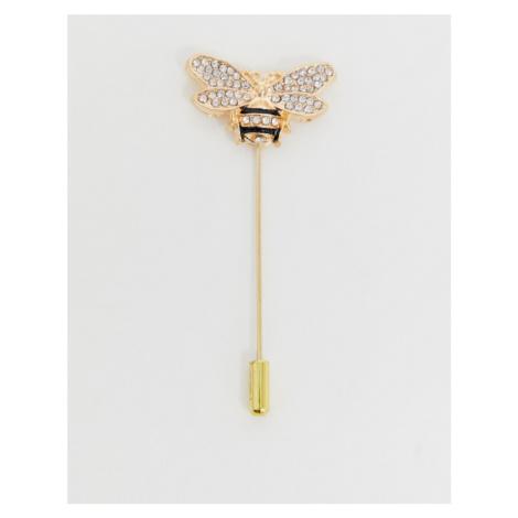 Devils Advocate gold bee lapel pin