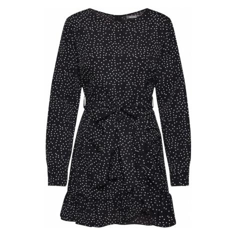 Missguided Sukienka koszulowa czarny / biały