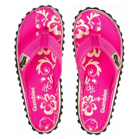 Gumbies - Japonki Islander Pink Hibiscu