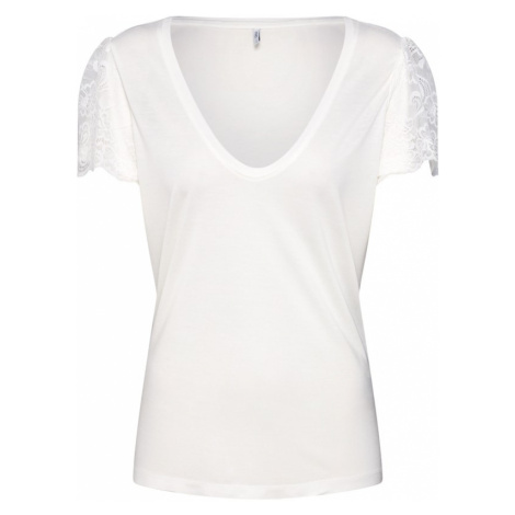 ONLY Koszulka 'LACE' biały