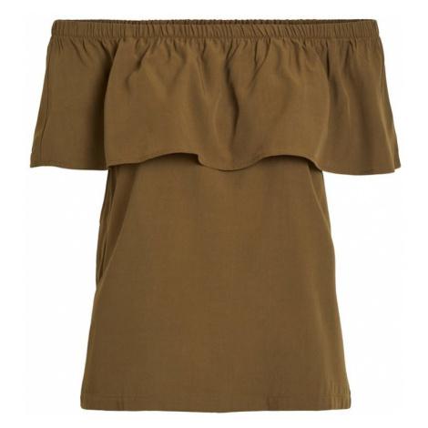 VILA Koszulka khaki