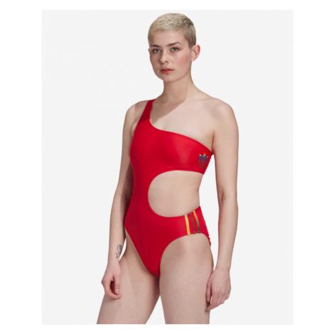 adidas Originals Adicolor 3D Trefoil Kostium kąpielowy jednoczęściowy Czerwony