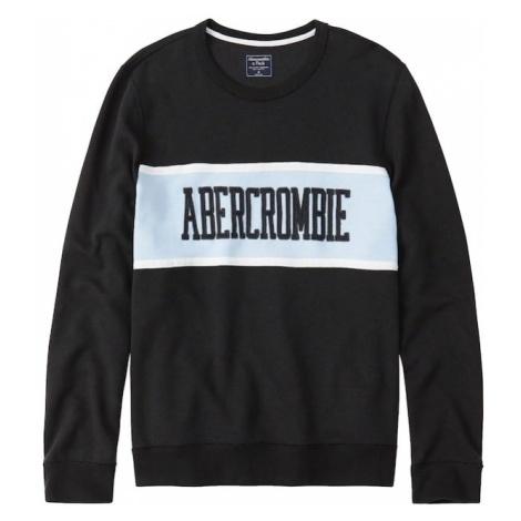 Abercrombie & Fitch Bluzka sportowa 'CORE LOGO CREW EXT' jasnoniebieski / czarny