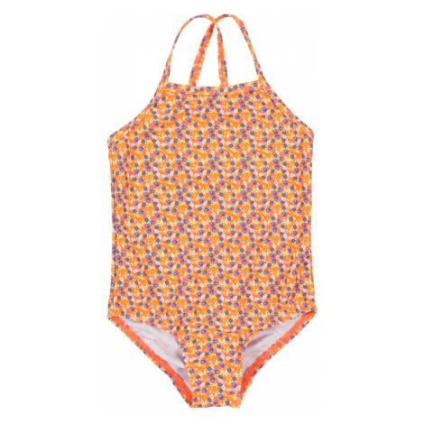 NAME IT Strój kąpielowy 'Zummers' niebieski / pomarańczowy / biały / różowy pudrowy