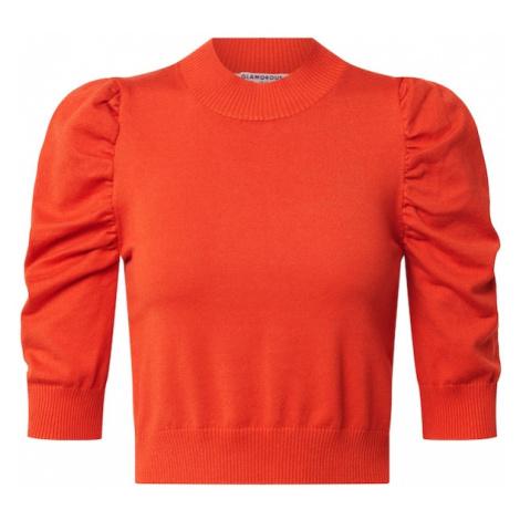 GLAMOROUS Sweter ciemnopomarańczowy